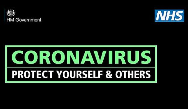 Image with text saying Coronavirus: protect yourself and others
